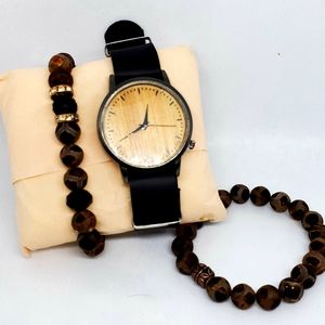 Jewelry - His and her bracelet set with watch